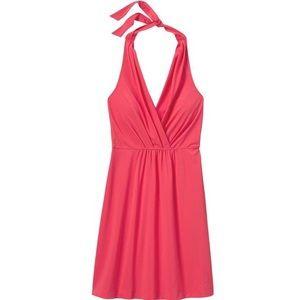 Athleta Go Anywhere Coral Halter Dress!